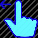 drag, finger, gesture, hand, left, shift, swipe