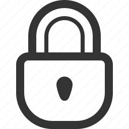 lock, locked, padlock, scure, security icon