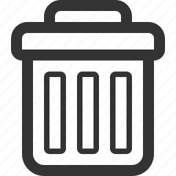 basket, delete, discard, garbage can, remove, trash, waste icon