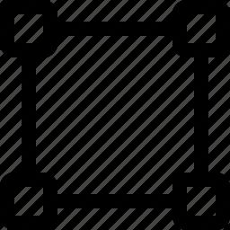 square, square selection, vector image, vector path, vector square icon
