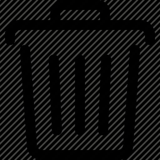 delete, dump, trash, trash bin, trash can, trashcan, waste basket icon