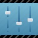 essentials, options, panel, settings, sliders