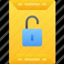 data, essentials, file, files, lock, unlocked icon