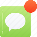 essentials, message, notification, receive, text
