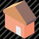 essentials, home, iso, isometric icon