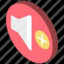 essentials, iso, isometric, up, volume icon