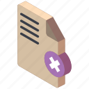 delete, document, essentials, iso, isometric