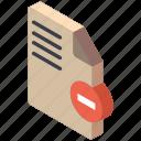 delete, essentials, file, iso, isometric