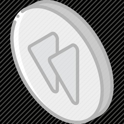 essentials, iso, isometric, reverve icon