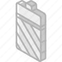 battery, essentials, iso, isometric icon