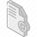 delete, document, essentials, iso, isometric icon