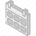 calendar, essentials, iso, isometric