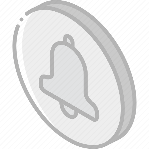bell, essentials, iso, isometric icon