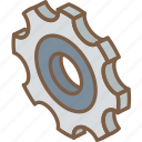 cog, essentials, iso, isometric icon