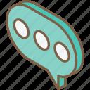 essentials, iso, isometric, message, progress icon