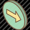 essentials, forward, iso, isometric icon