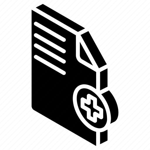 add, document, essentials, iso, isometric icon