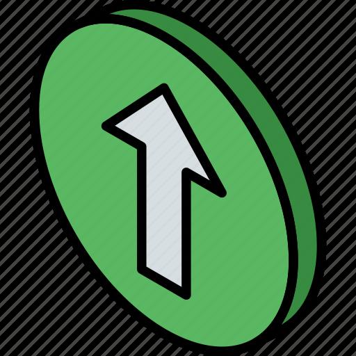 essentials, iso, isometric, up icon