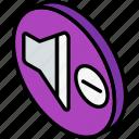 down, essentials, iso, isometric, volume icon