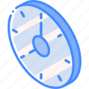 isometric, iso, essentials, clock