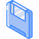 essentials, iso, isometric, save icon
