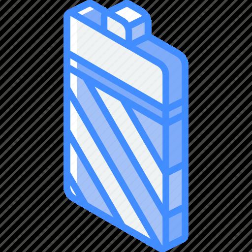 battery, essentials, iso, isometric icon