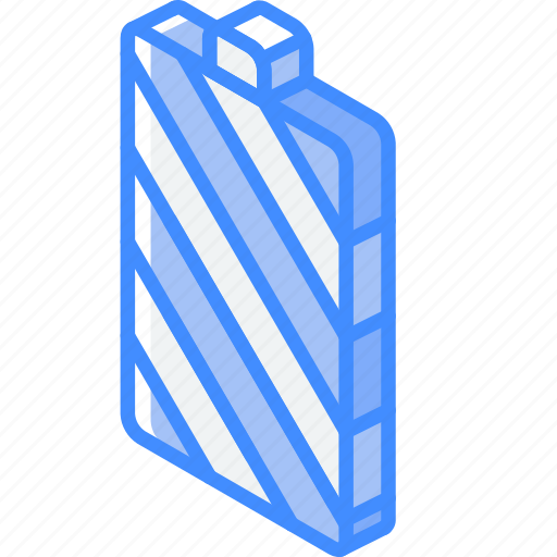 Battery, essentials, full, iso, isometric icon - Download on Iconfinder