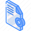 add, document, essentials, iso, isometric icon