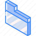 essentials, folder, iso, isometric icon