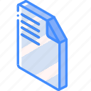 essentials, file, iso, isometric icon
