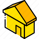 essentials, home, iso, isometric icon