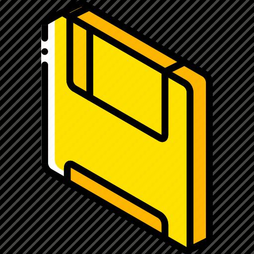 essentials, iso, isometric, save icon
