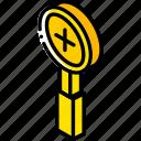 essentials, iso, isometric, zoom icon