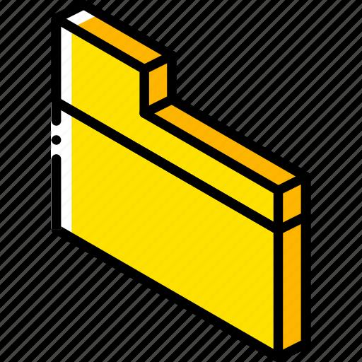 essentials, folder, iso, isometric icon