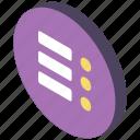 essentials, iso, isometric, options icon