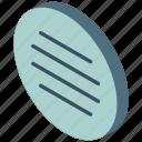 menu, isometric, iso, essentials icon