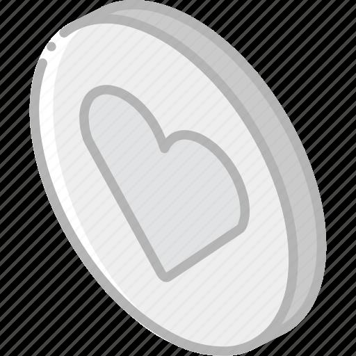 essentials, favourite, iso, isometric icon