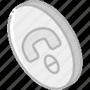 essentials, hangup, iso, isometric icon