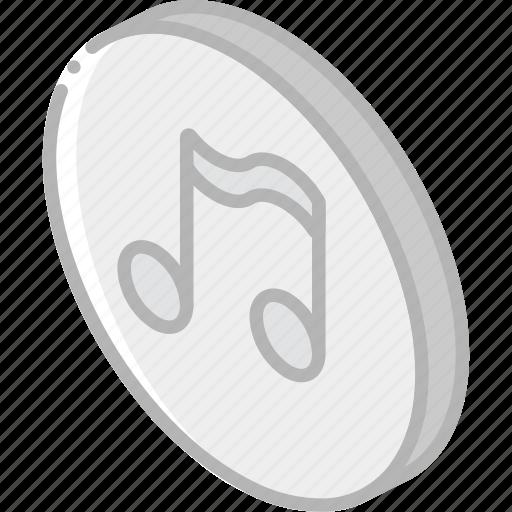 essentials, iso, isometric, music icon