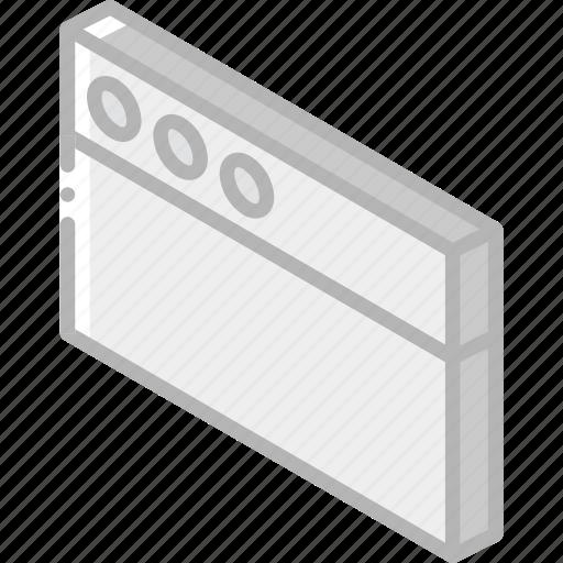 essentials, iso, isometric, window icon