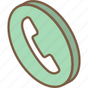 call, essentials, iso, isometric icon