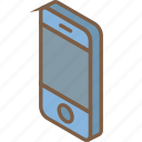 essentials, iso, isometric, mobile icon