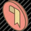 bookmark, essentials, iso, isometric icon