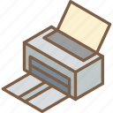 essentials, iso, isometric, print icon