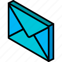 essentials, iso, isometric, mail icon