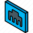 essentials, ethernet, iso, isometric icon