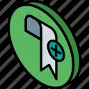 add, bookmark, essentials, iso, isometric