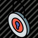 essentials, iso, isometric, locked icon