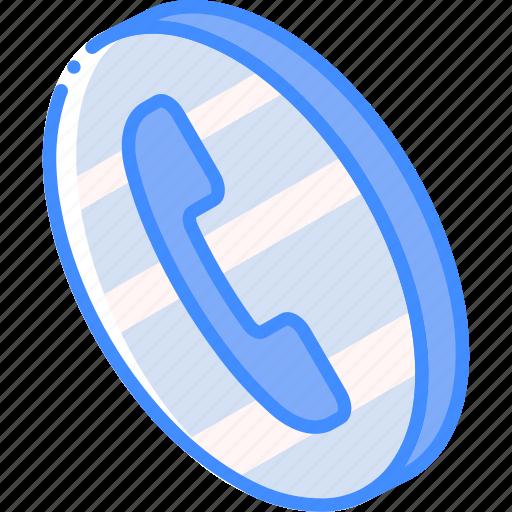 call, essentials, iso, isometric icon