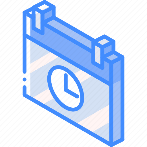 essentials, iso, isometric, schedule icon